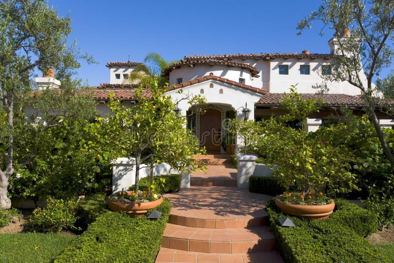 Custom Home In Newport Beach, CA stock images