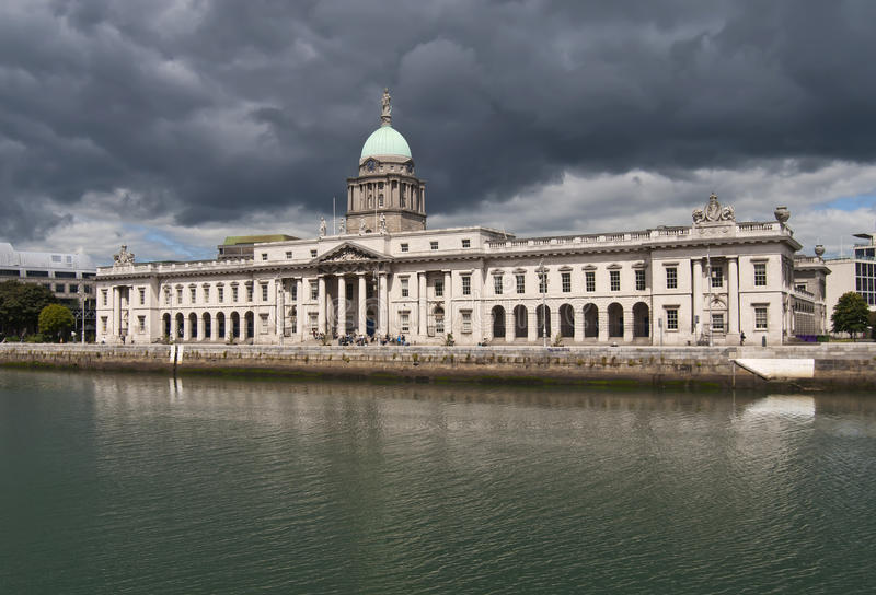 Download Custom House Dublin stock image. Image of empty, great - 19988959