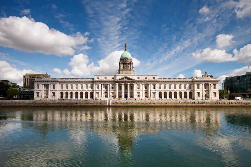 Custom House, Dublin royalty free stock images
