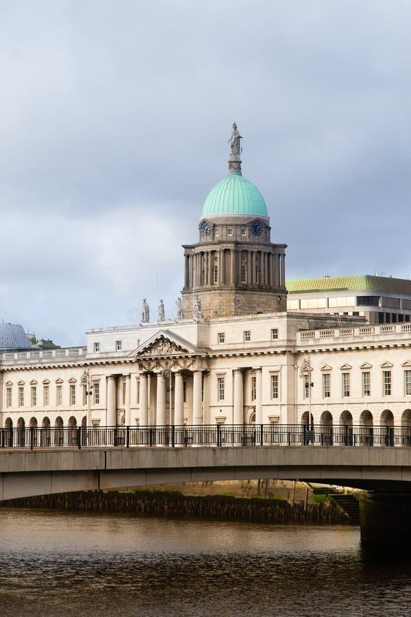 Custom House Dublin Ireland royalty free stock photos