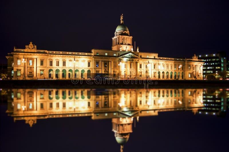 Custom house at night royalty free stock image