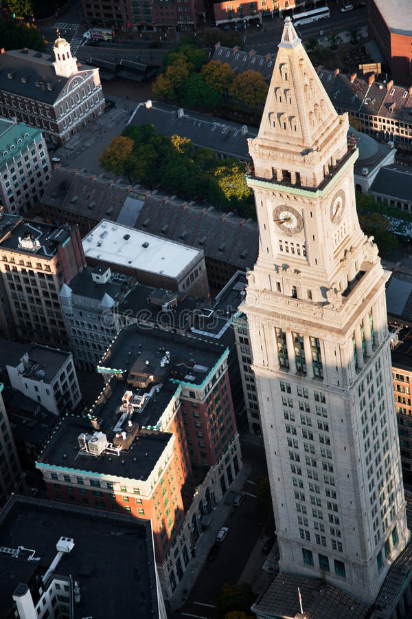 Custom House Tower, royalty free stock photo