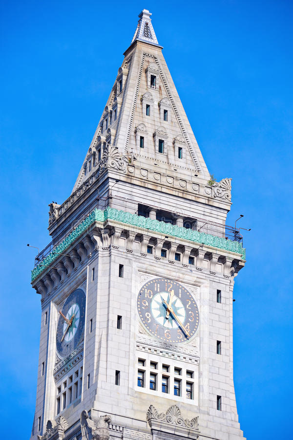 Download Custom House Tower In The Center Of Boston Stock Image - Image: 25192945
