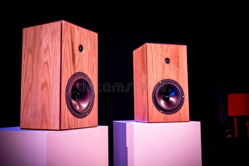Custom Made Hi fidelity Studio Loud Speakers royalty free stock photography