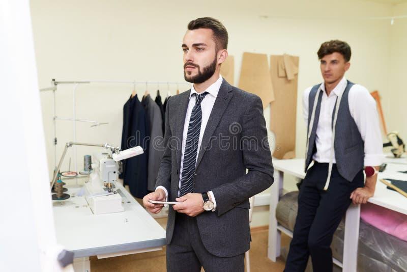 Custom Made Suit Fitting stock photos