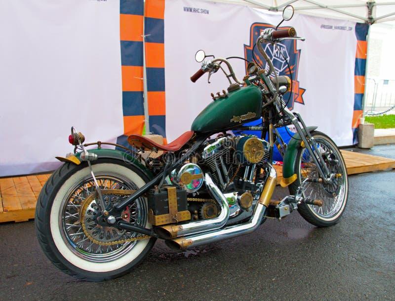Custom motorbike on Russian Harley Days, St. Petersburg royalty free stock photos