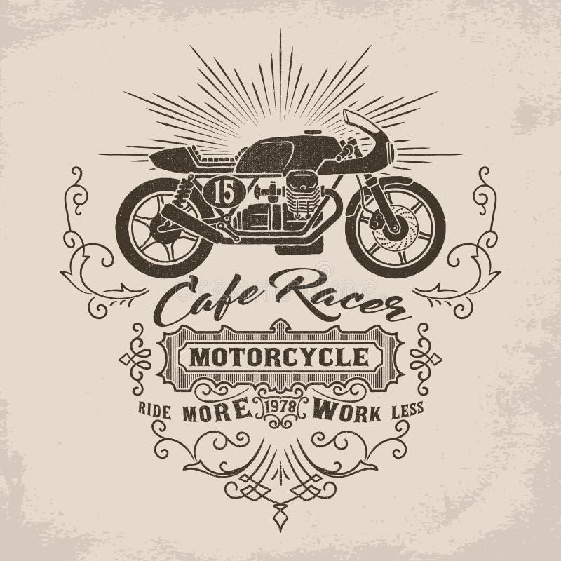 Custom motorcycle illustration. Vintage Design vector illustration