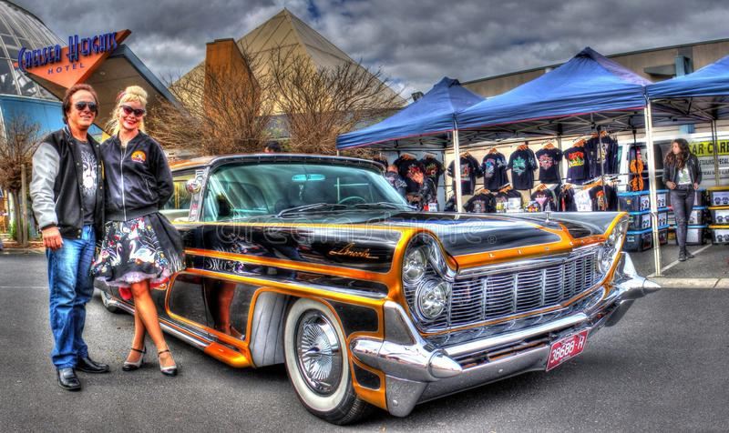 Download Custom Painted 1950s American Ford Lincoln Continental Editorial Photography