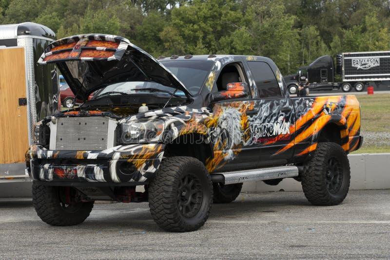 Custom pickup truck royalty free stock photo