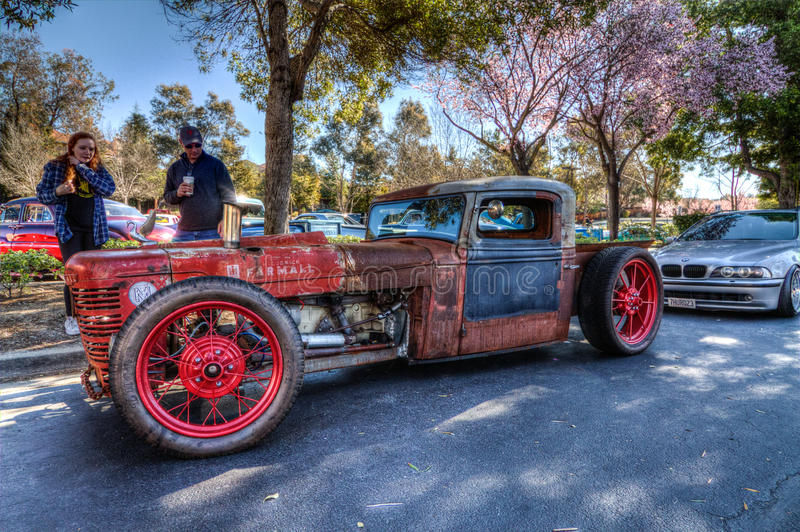 Custom Rat Rod. Picture taken in HDR Daville Ca at the Cars and Coffee cars Show March 1st 2015 by Luigi Dionisio i stock images