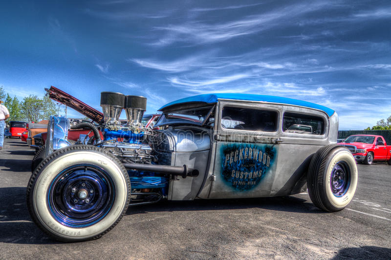 Custom Roadster Hot Rods. Picture taken by Luigi Dionisio at the Goodguys Car Show in Pleasanton Ca Mar 28 2015 stock photo