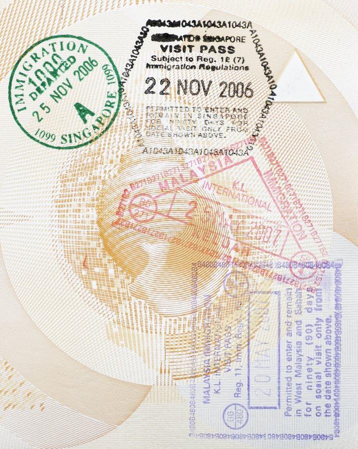 Download Custom Stamps In Passport stock photo. Image of citizen - 3048746