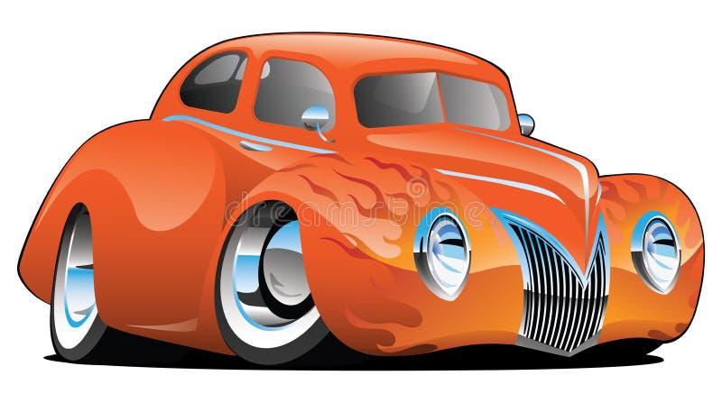 Custom Street Rod Vintage Car Cartoon Isolated Vector Illustration stock photo