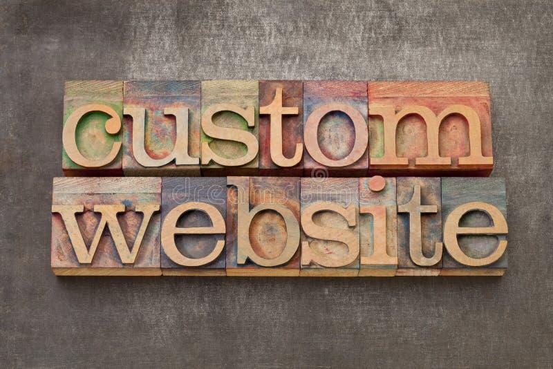 Custom website stock images