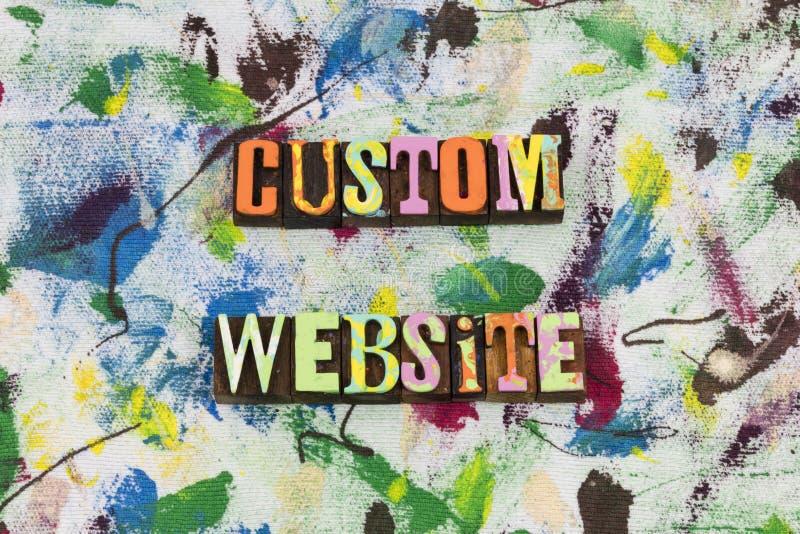 Custom website online business stock photos