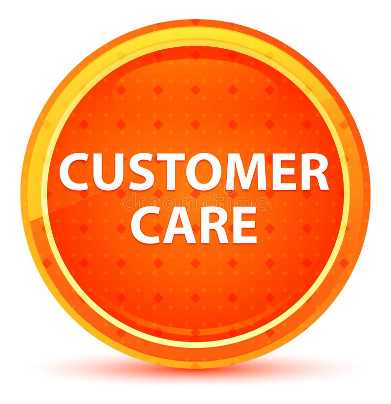 Customer Care Natural Orange Round Button. Customer Care Isolated on Natural Orange Round Button royalty free illustration