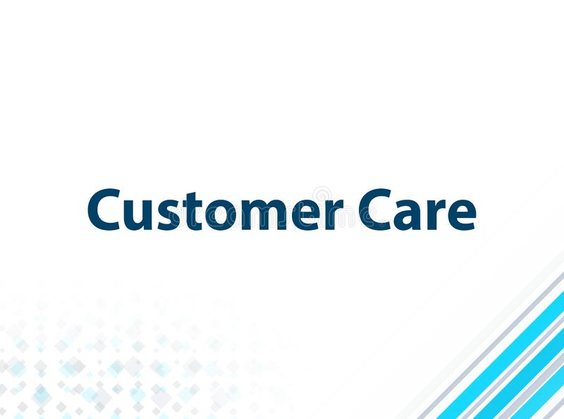 Customer Care Modern Flat Design Blue Abstract Background. Customer Care Isolated on Modern Flat Design Blue Abstract Background royalty free illustration