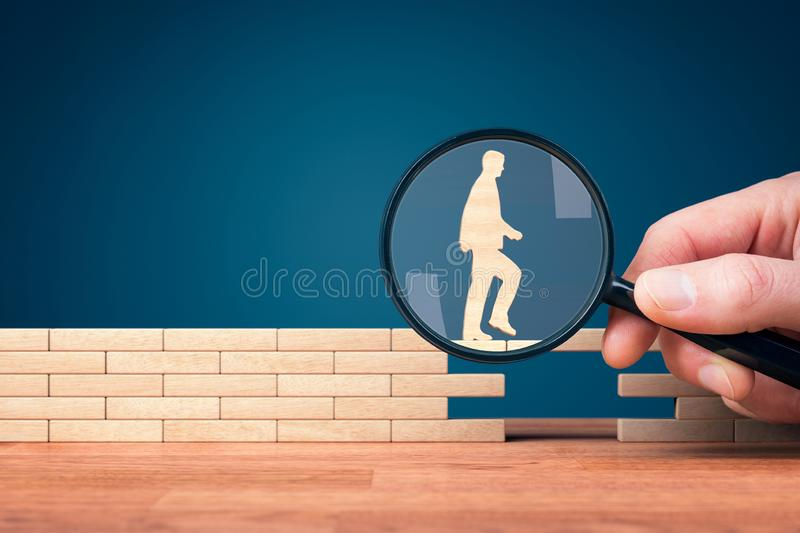 Customer care, personal development and support royalty free stock photo