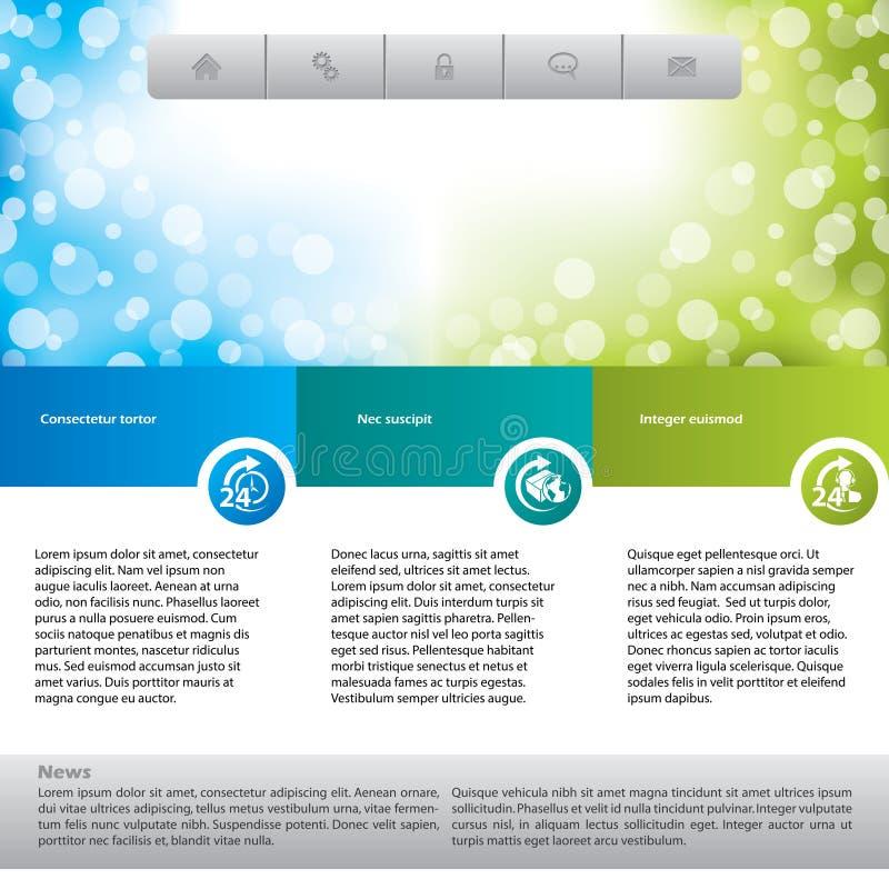 Download Customer Care Website Template Stock Vector - Image: 28954964