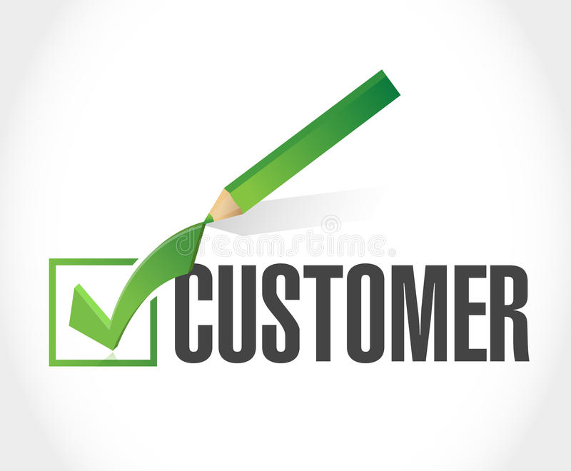 Customer check mark list illustration. Design over a white background stock image