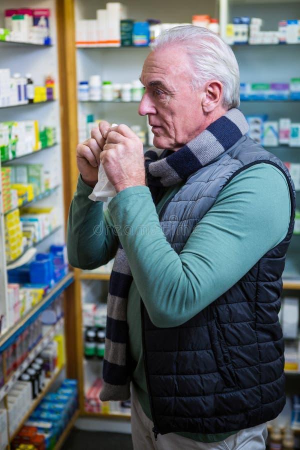 Customer checking medicines royalty free stock images