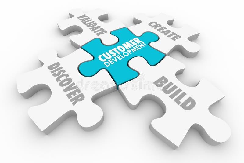 Customer Development Discovery Validation Process Puzzle stock illustration