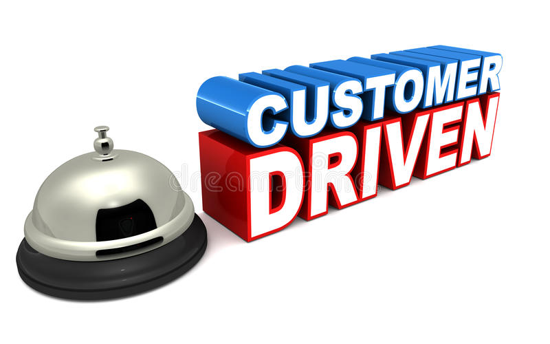 Customer driven business stock illustration