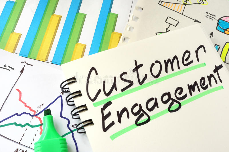 Customer Engagement. royalty free stock photos
