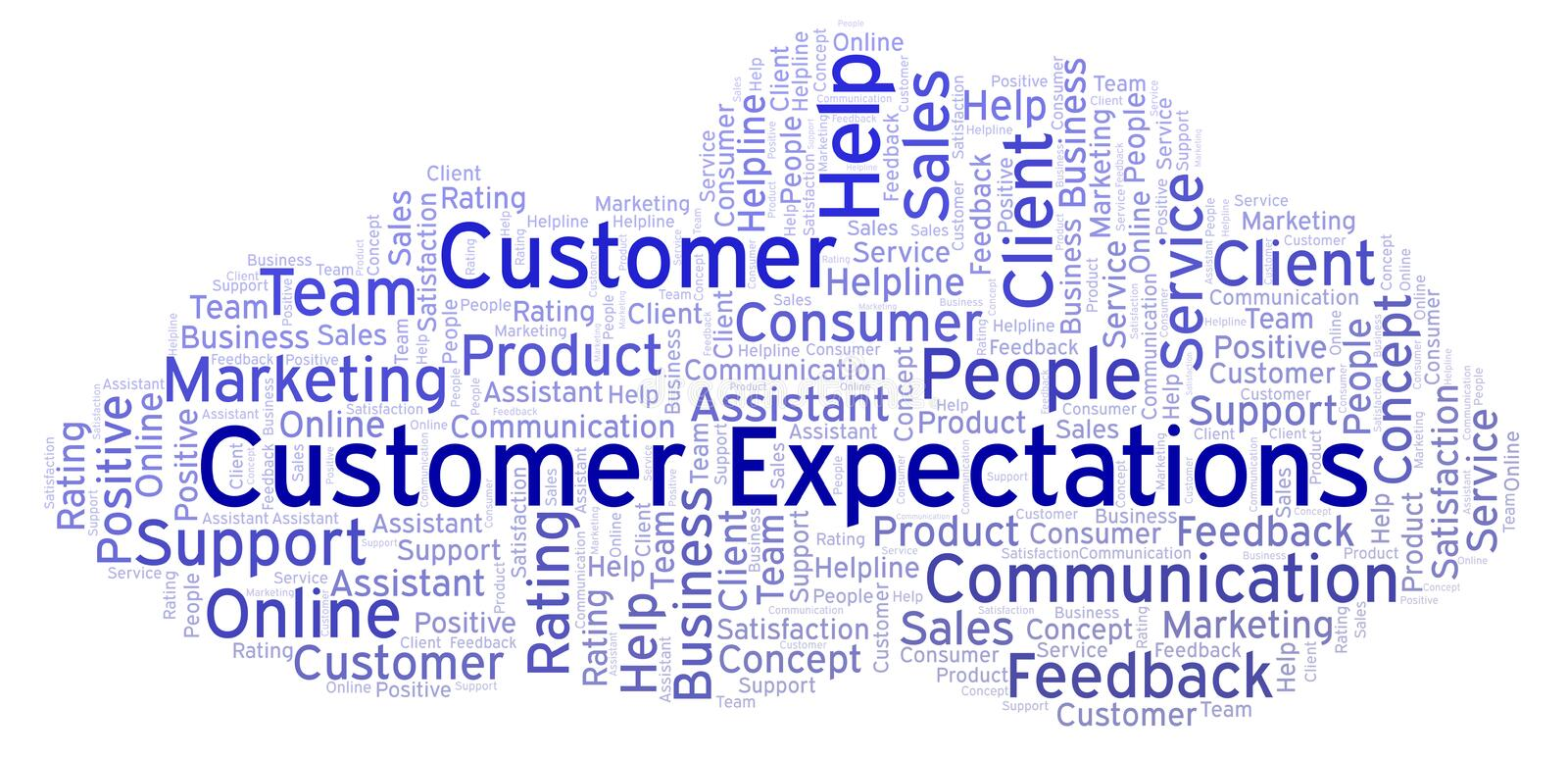 Customer Expectations word cloud. vector illustration