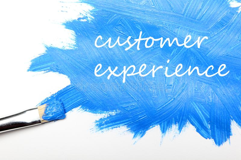 Customer experience business concept royalty free stock photography