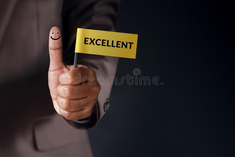 Customer Experience Concept, Best Excellent Services Rating for stock photography