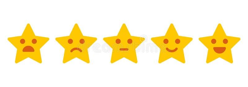 Customer feedback. Iconic illustration of satisfaction level stock illustration