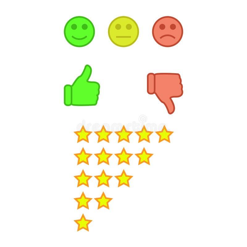 Customer feedback or user experience concept. vector illustration