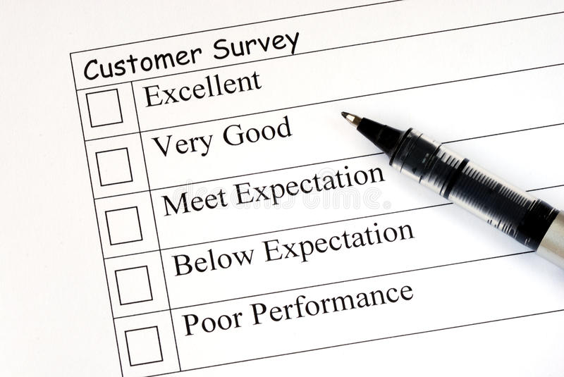 Download Customer Fills In The Survey Royalty Free Stock Photography - Image: 14661537