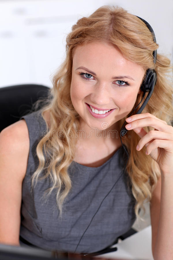 Customer helpline service royalty free stock photos