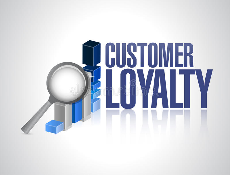 customer loyalty business review sign concept royalty free illustration