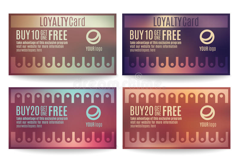 Customer Loyalty Card Templates Stock Vector Illustration Of - Loyalty card template