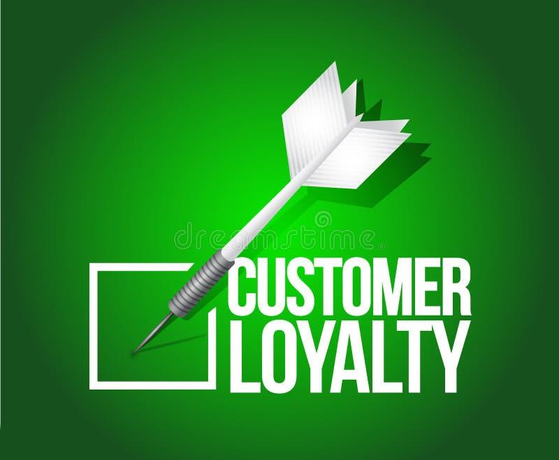 Customer loyalty dart selection.illustration stock illustration