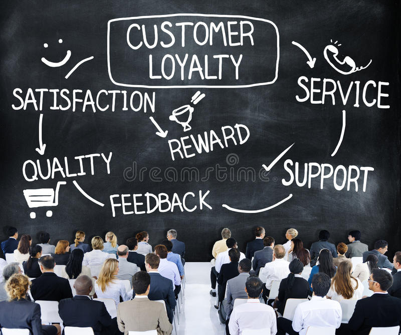 Customer Loyalty Satisfaction Support Strategy Concept royalty free stock images
