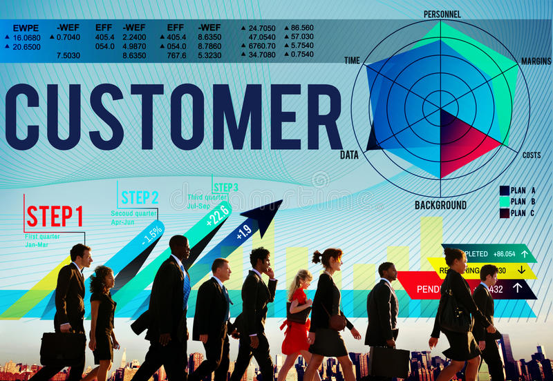 Customer Loyalty Service Efficiency Strategy Concept royalty free stock photography