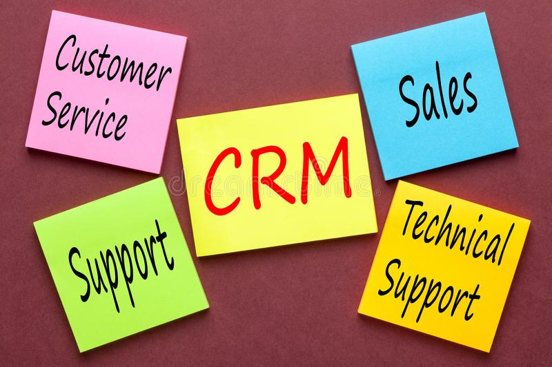 Customer relationship management immagini stock