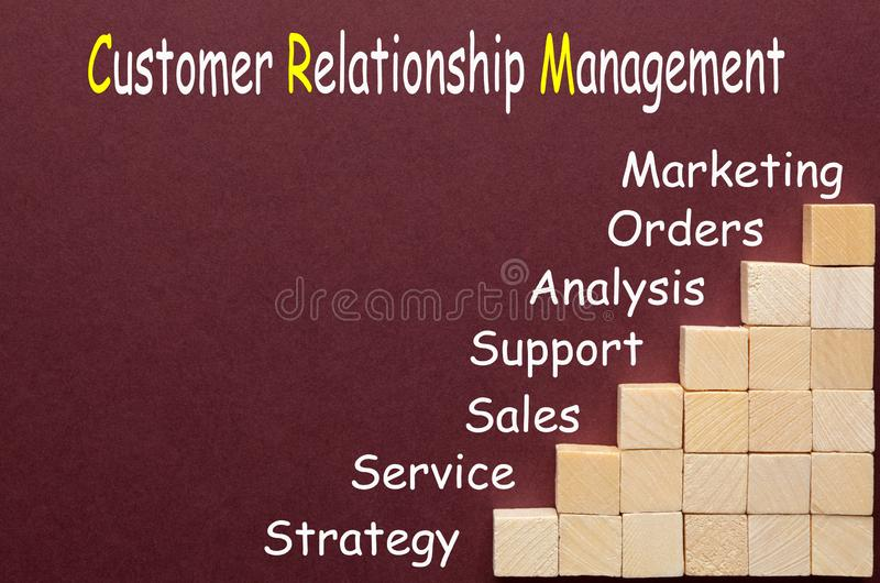 Customer relationship management fotografie stock libere da diritti