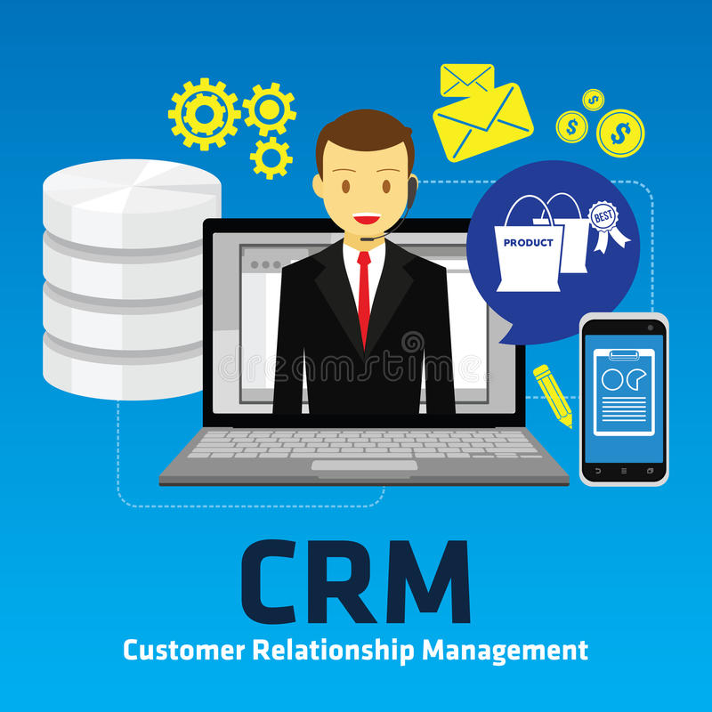 Customer relationship management di Crm royalty illustrazione gratis