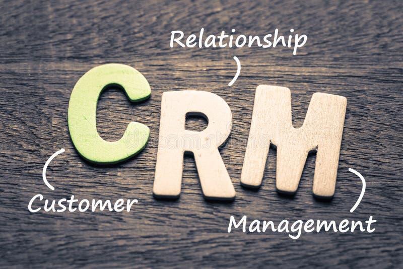 Customer relationship management di Crm fotografia stock libera da diritti