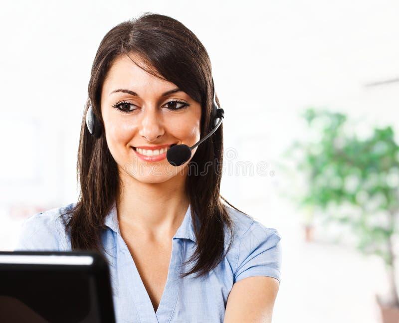 Customer representative royalty free stock photo