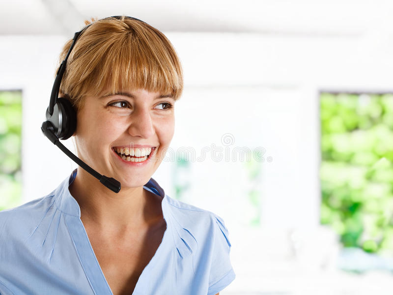Customer representative stock photo