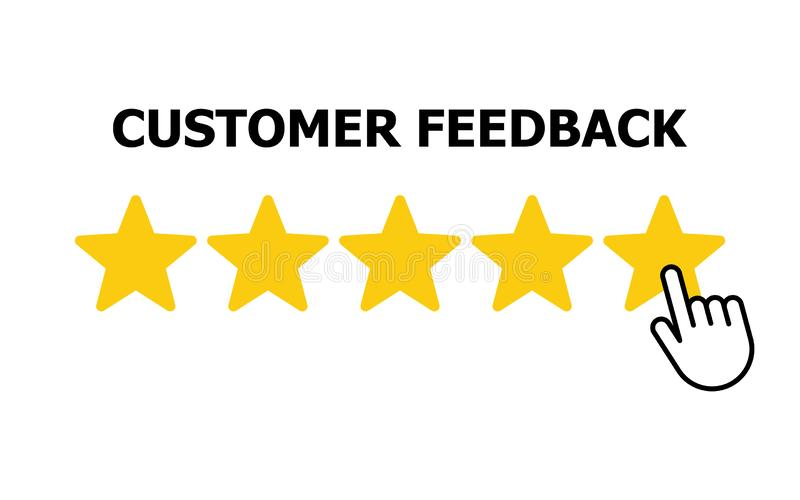 Customer reviews, rating, user feedback concept icon. Vector illustration vector illustration