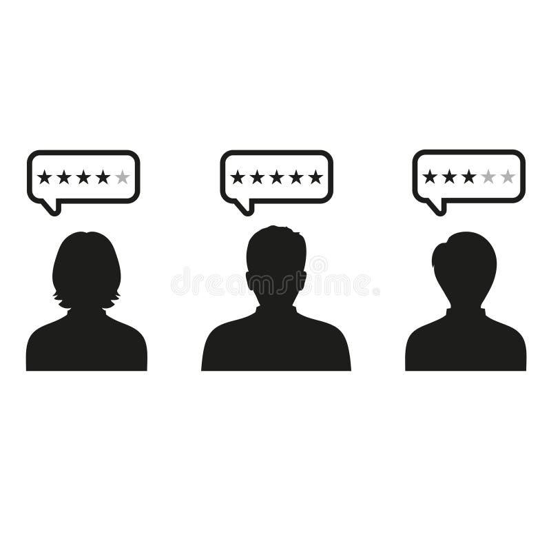 Customer reviews, rating, user feedback concept. Illustration Customer reviews, rating, user feedback concept.Social score concept. Stock illustration of human vector illustration