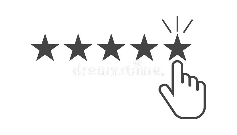 Customer reviews, rating, user feedback concept vector icon. Fla. T illustration on white background stock illustration