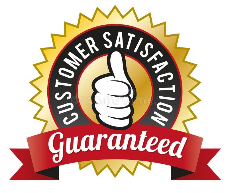 Customer Satisfaction Guaranteed. Vector illustration of Guarantee Seal vector illustration